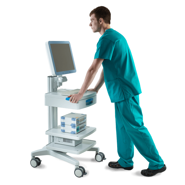 moorVMS-VASC system with optional clinical cart and panel PC