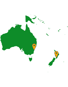 Moor Instruments Distribution Map - Australasia