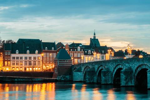 Dutch Sint Servaas bridge in Maastricht