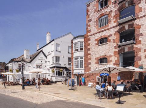 Exeter Quay Devon UK